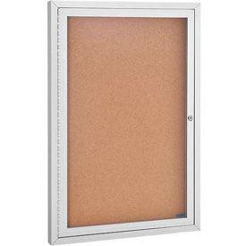1 Door Aluminum Frame Cork Boards