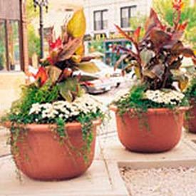 Wausau Tile - Round Concrete Planters – 40 To 42 Inch Wide