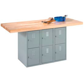 Cabinet Station Workbenches With Maple Top