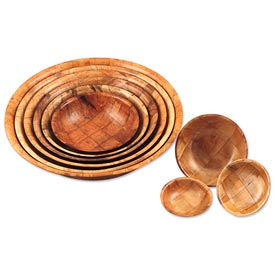 Woven Wood Bowls And Plates
