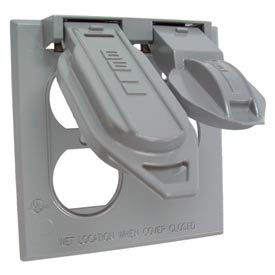Weatherproof Two-Gang Device Covers