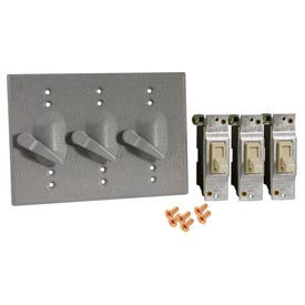 Three-Gang Lever Switch Cover & Replacement Switch