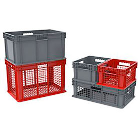 Global Industrial™ Stackable Pallet Containers