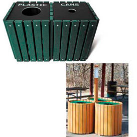 Recycled Plastic Recycling Receptacles