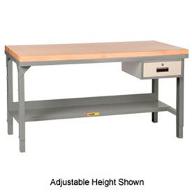 Little Giant® Fixed Height Butcher Block Top Workbenches