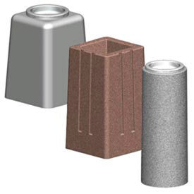 Round And Square Concrete Cigarette Urns