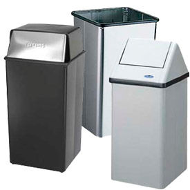 Square Waste Receptacles