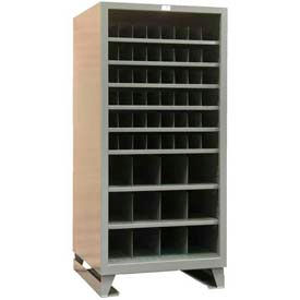 Stronghold® Open Front Metal Bin Compartment Cabinet