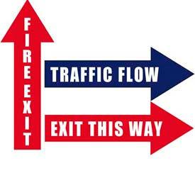 Durastripe Arrow Floor Safety Signs
