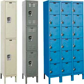 Hallowell® ReadyBuilt Steel Lockers-Fully Assembled, Combo Padlock included