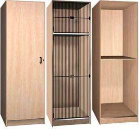 Ironwood Compartment Storage Wood Lockers