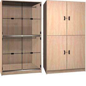 Ironwood Solid & Grill Door Wardrobe Storage Cabinet