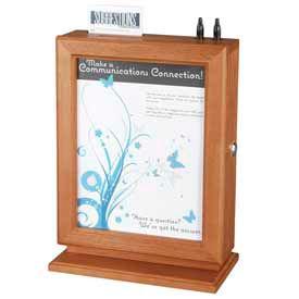 Safco® - Customizable Wood Suggestion Box