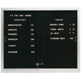 Indoor Non-Illuminated 2-3 Door Letter Boards