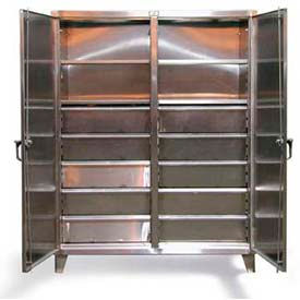 Stronghold® Stainless Steel Double-Door, Independent Locking Drawer Cabinets