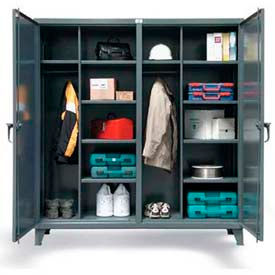 Stronghold® Double-Door, Independent Locking Wardrobe Cabinet