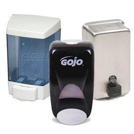 Wall Mount Manual Soap & Sanitizer Dispensers