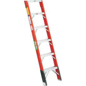 Green Bull® Fiberglass Shelf Ladders