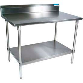 Stainless Steel Workbenches - 5 Inch Backsplash