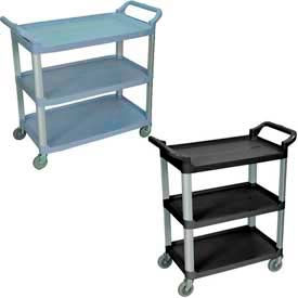 Luxor® Plastic Serving & Bussing Carts