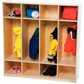 Wood Preschool Lockers