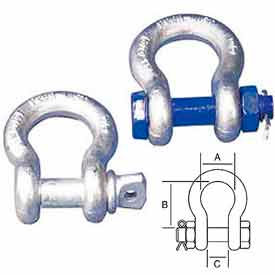 Peerless™ Peer-Lift Galvanized Anchor Shackles