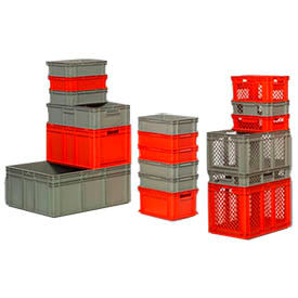 SSI-Schaefer Euro-Fix Industrial Stackable Containers - Solid and Mesh
