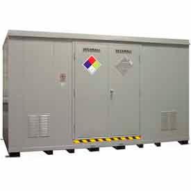 Securall® Hazmat Chemical Storage Buildings, 16-80 Drum Capacity