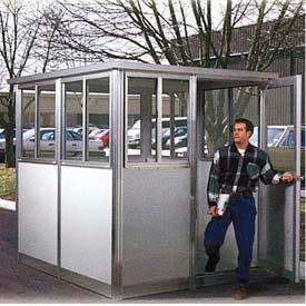 Pre-Assembled Security Guard Buildings With Integral Roofs