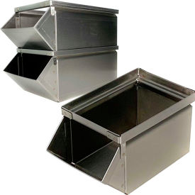 Stainless Steel Stackbin Hopper Front Container
