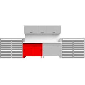 Tech Bench with Sliding Door