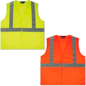 Hi-Visibility ANSI Class 2 Solid Vests