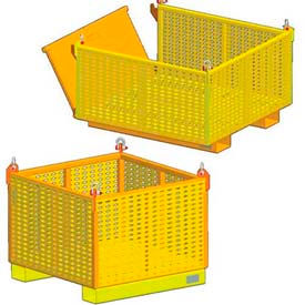 Heavy Duty Vented Steel Containers