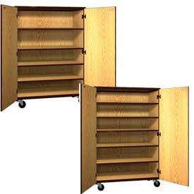 Ironwood Mobile Wood General Storage Cabinets