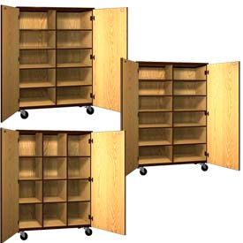 Mobile Wood Cubicle Storage Cabinets