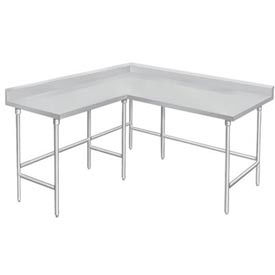 Stainless Steel Corner Workbenches - 4 Inch Backsplash