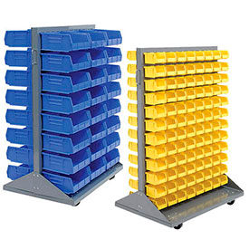Mobile Double-Sided Pick Rack With Stacking Bins