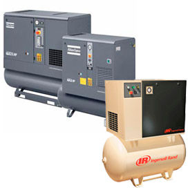 3-Phase Tank Mounted Rotary Screw Air Compressors, With Dryer