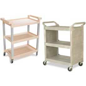 Rubbermaid® 3-Shelf Plastic Utility Carts