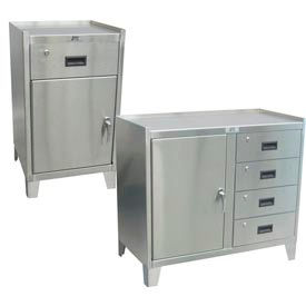 Jamco Counter High Stainless Steel Cabinets