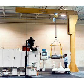 Gorbel® Heavy Duty Free Standing Jib Cranes 500 lb. to 1000 lb. Capacity
