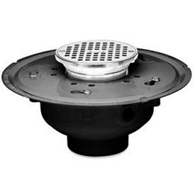 Adjustable Commercial Drains with Square and Round Tops