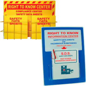Right To Know SDS Wall Mount Center And Binder Holder