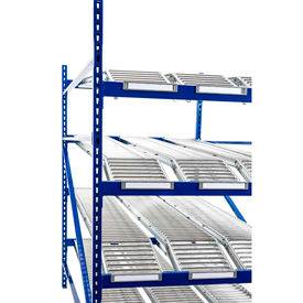 Gravity Flow Roller Racks with Span Tracks 84