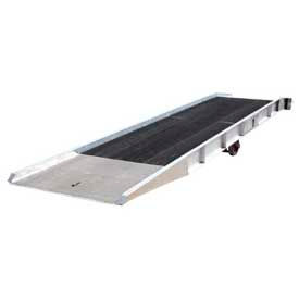 Vestil Aluminum Forklift Yard Ramps with Steel Grating
