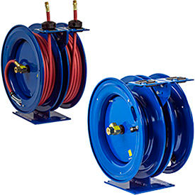 Dual Purpose Spring Retractable Combination Air/Water/Electric Hose/ Cord Reels