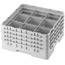 Nine-Compartment Glass Racks