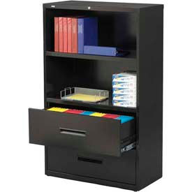 Merveilleux Hirsh Industries®   Lateral File/Bookcase Combo Unit