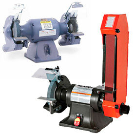 Combination Bench Grinders, Belt Grinders, & Buffers