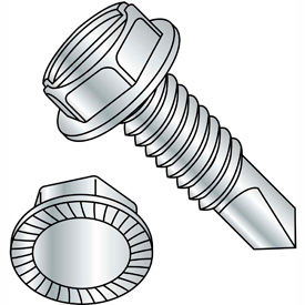 Slotted Indented Hex Washer Self-Drilling Screws